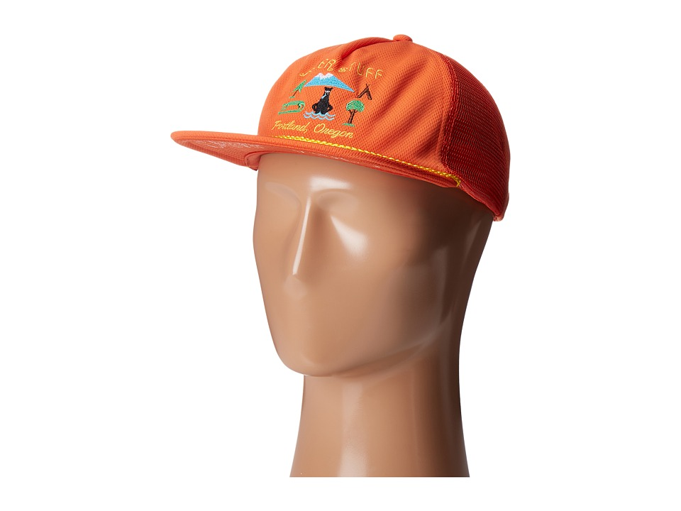 Poler - Tourist Trap Mesh Trucker Hat (Burnt Orange) Caps