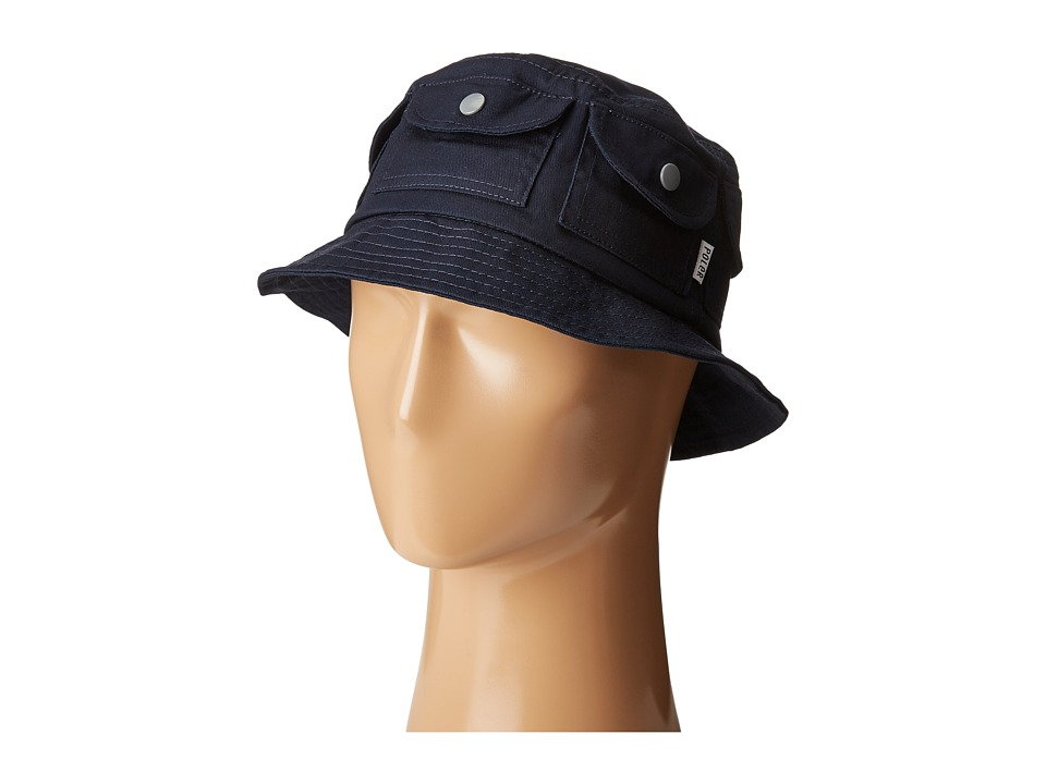 Poler - Pocket Bucket Hat (Navy) Bucket Caps