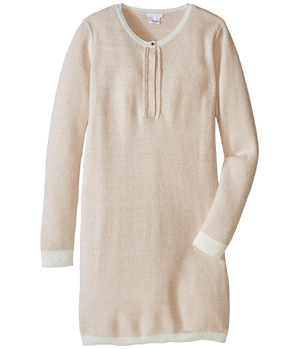 Chloe Kids - Lurex and Knitted Dress w/ Braids Details (Big Kids) (Rose Pale) Girl's Dress