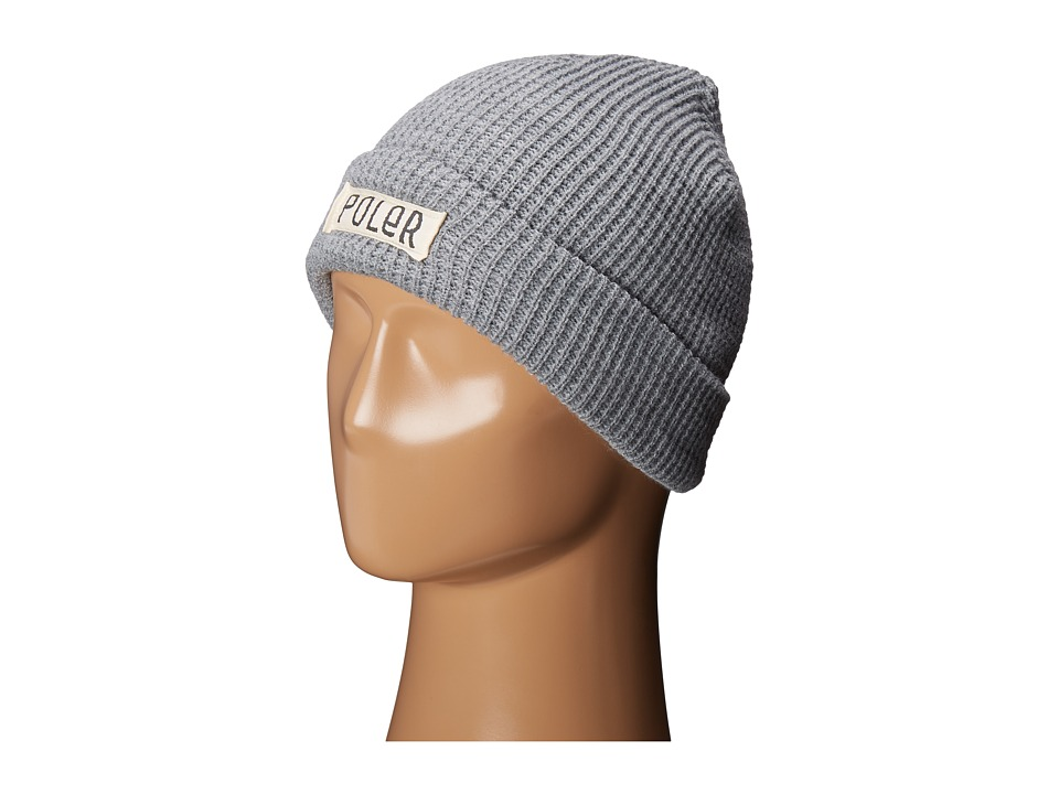 Poler - Workerman Beanie (Light Gray Heather) Beanies