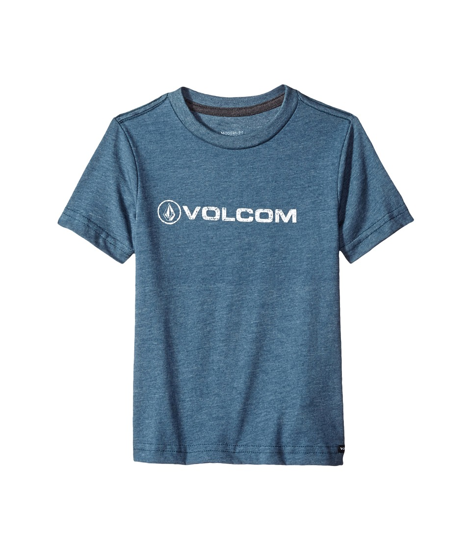Volcom Kids - Euro Pencil Short Sleeve Tee (Toddler/Little Kids) (Air Force Blue) Boy's T Shirt