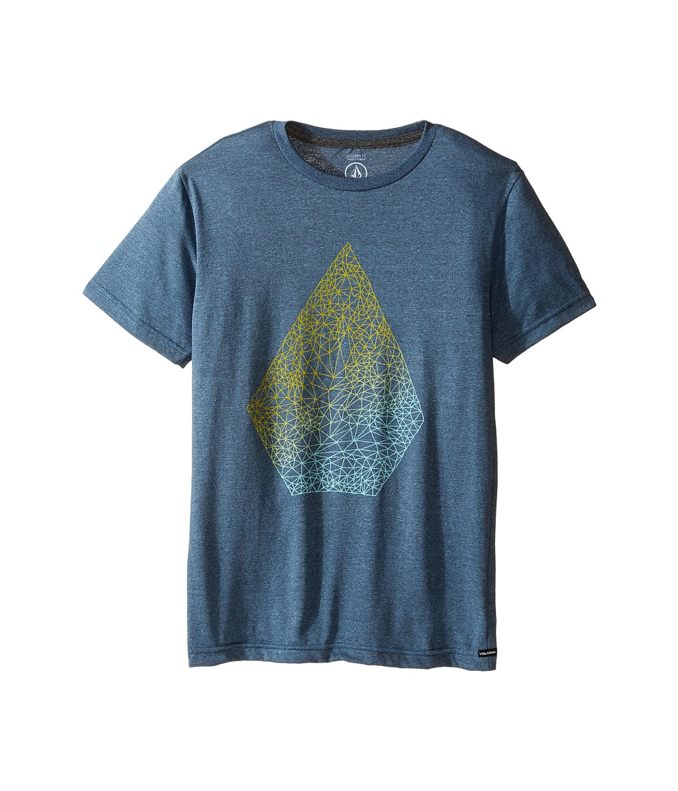 Volcom Kids - Stoney Short Sleeve Tee (Big Kids) (Blue Fog) Boy's T Shirt