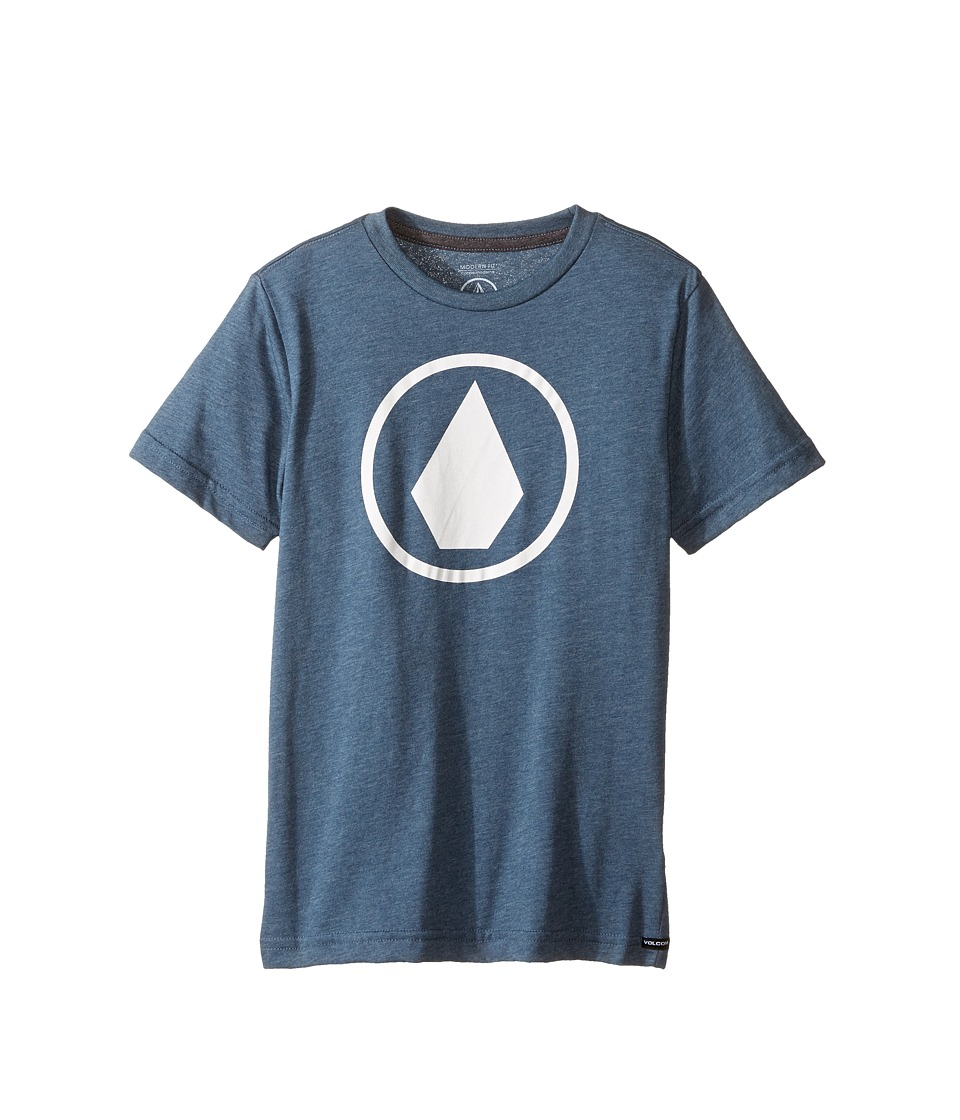 Volcom Kids - Solid Stone Short Sleeve Tee (Toddler/Little Kids) (Air Force Blue) Boy's T Shirt