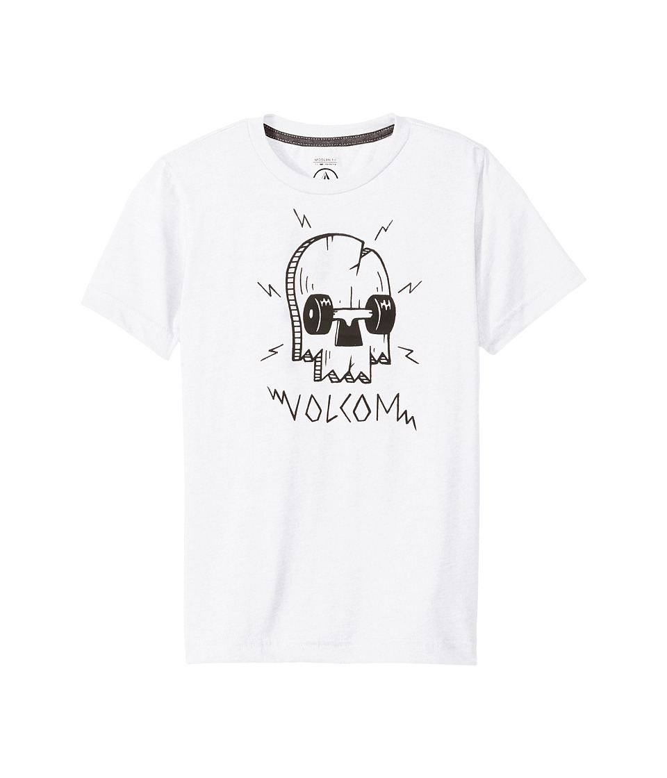 Volcom Kids - Break Short Sleeve Tee (Big Kids) (White) Boy's T Shirt