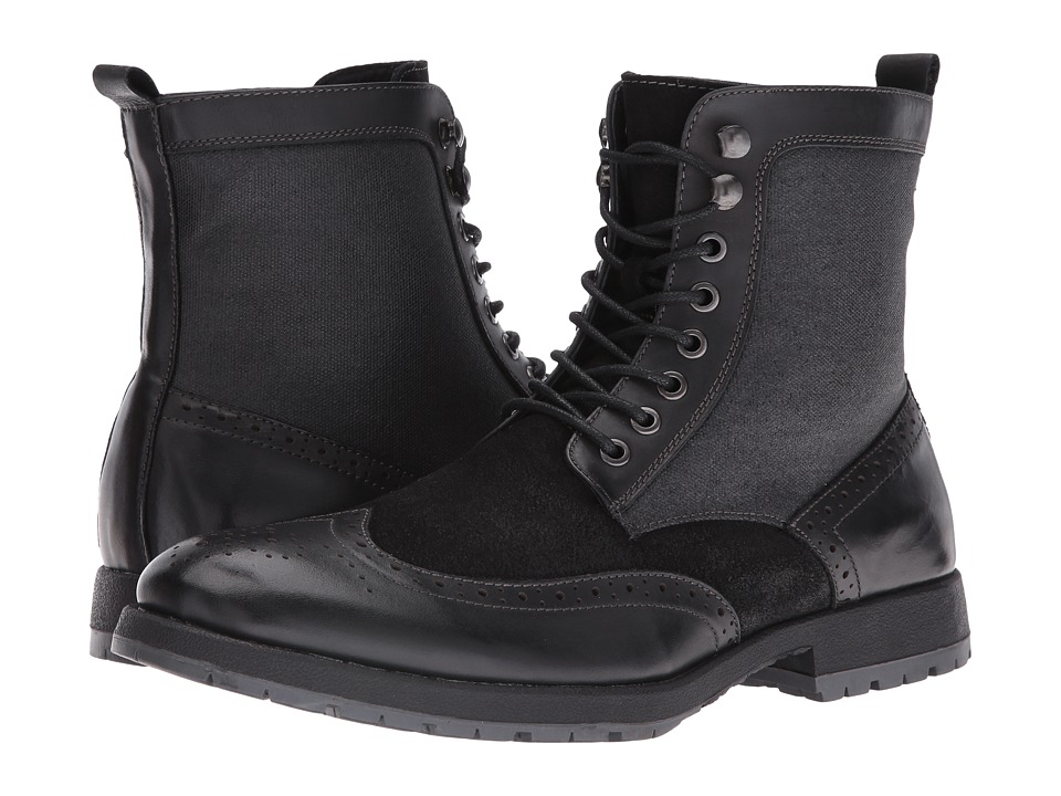 Robert Wayne - Richard (Black) Men's Lace-up Boots