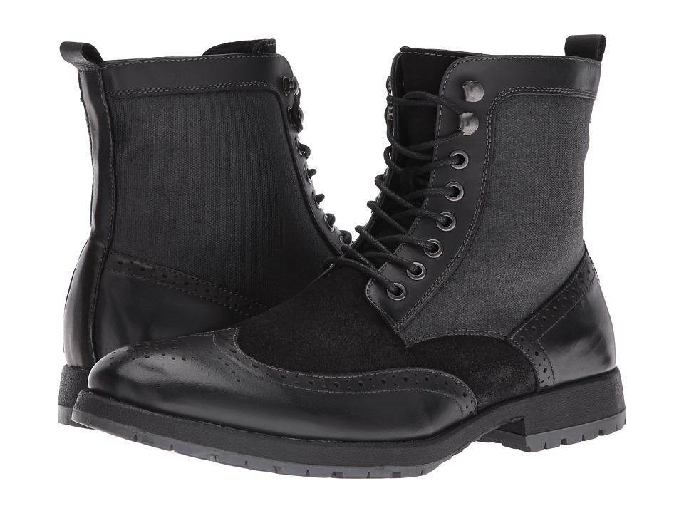 Robert Wayne - Richard (Black) Men's Lace-up Boots