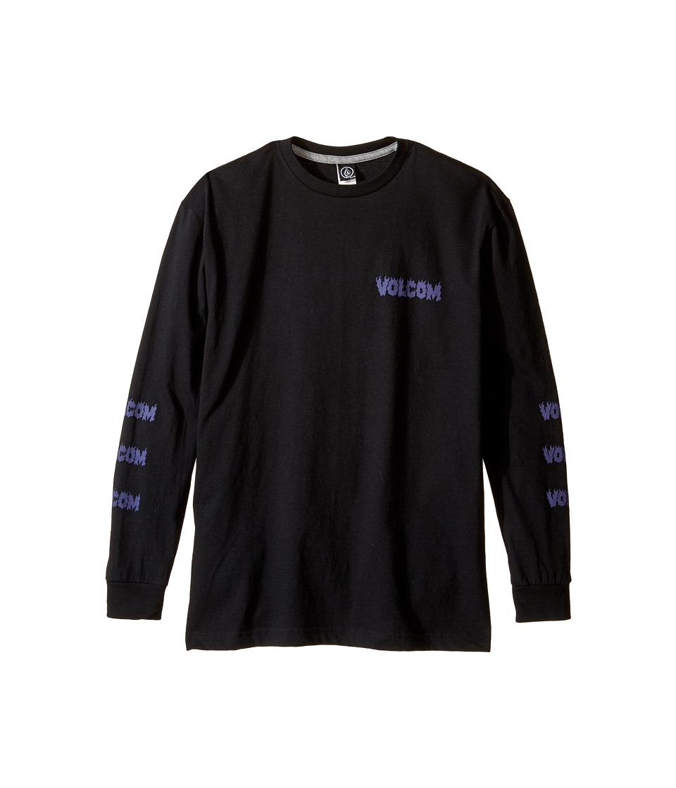 Volcom Kids - Hesh Long Sleeve Tee (Big Kids) (Black) Boy's Long Sleeve Pullover