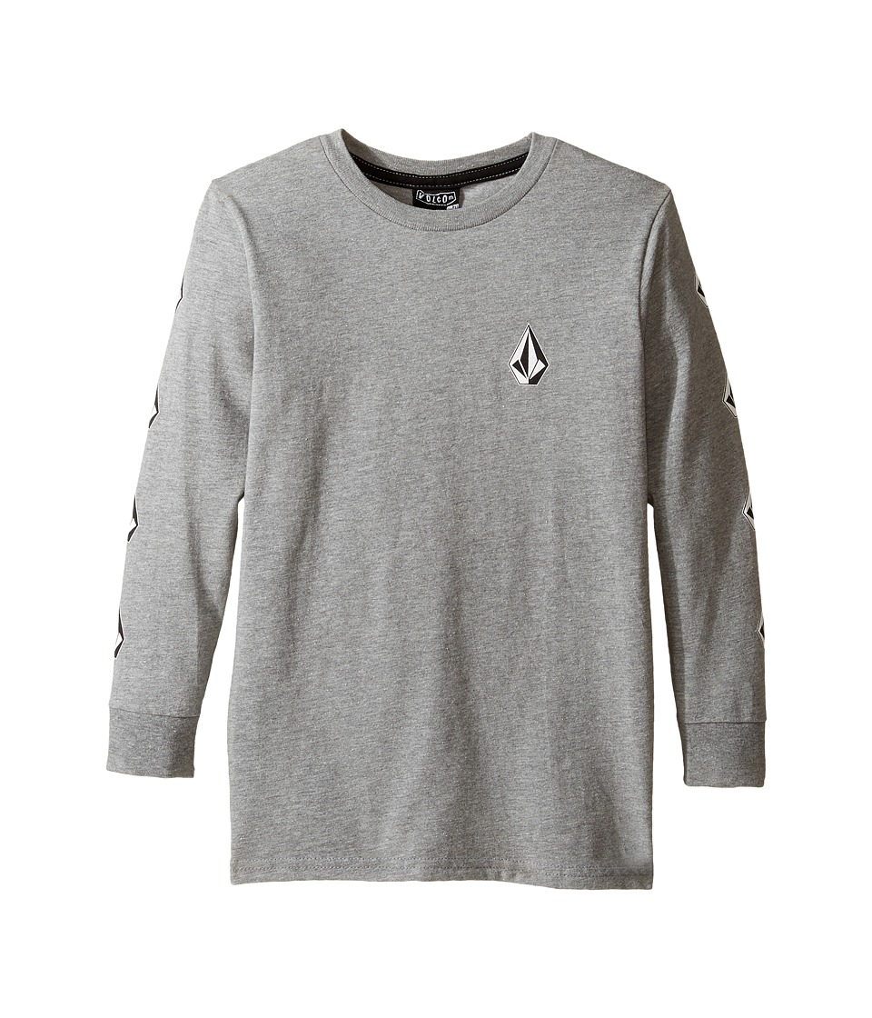 Volcom Kids - Deadly Stones Long Sleeve Tee (Toddler/Little Kids) (Heather Grey) Boy's T Shirt