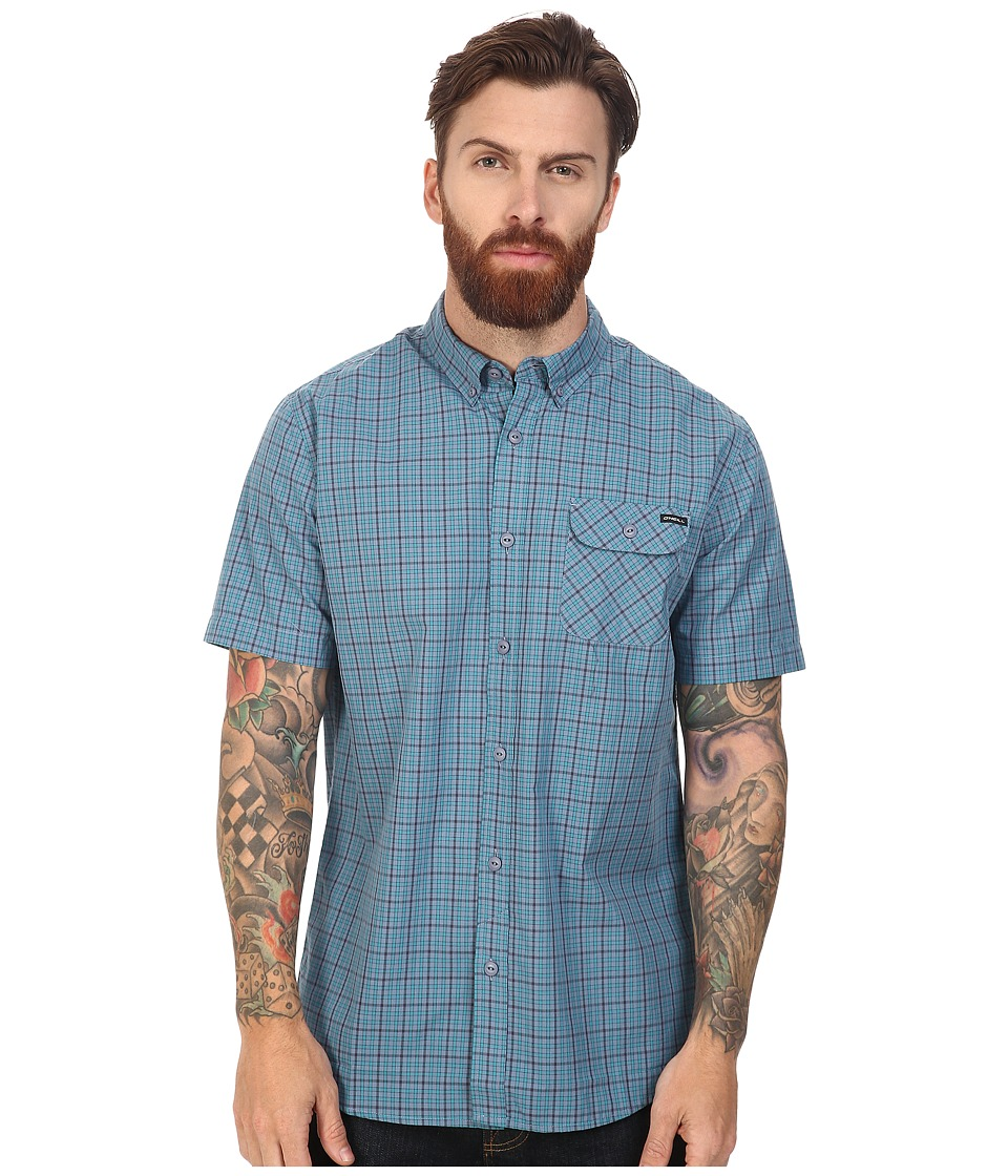 O'Neill - Emporium Check Short Sleeve Top (Blue) Men's Clothing