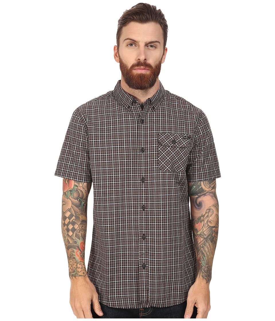 O'Neill - Emporium Check Short Sleeve Top (Rust) Men's Clothing