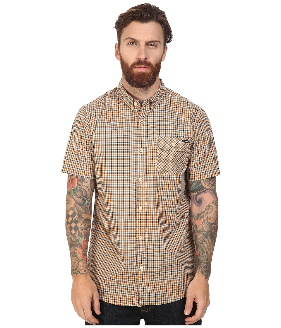 O'Neill - Emporium Check Short Sleeve Top (Stone) Men's Clothing