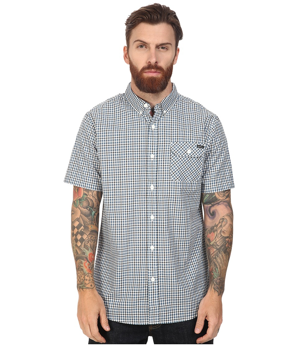 O'Neill - Emporium Check Short Sleeve Top (White) Men's Clothing