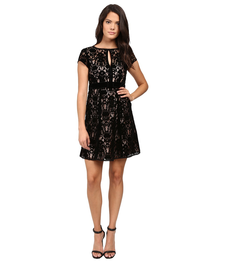 Nanette Lepore Boudoir Lace Dress (Black) Women