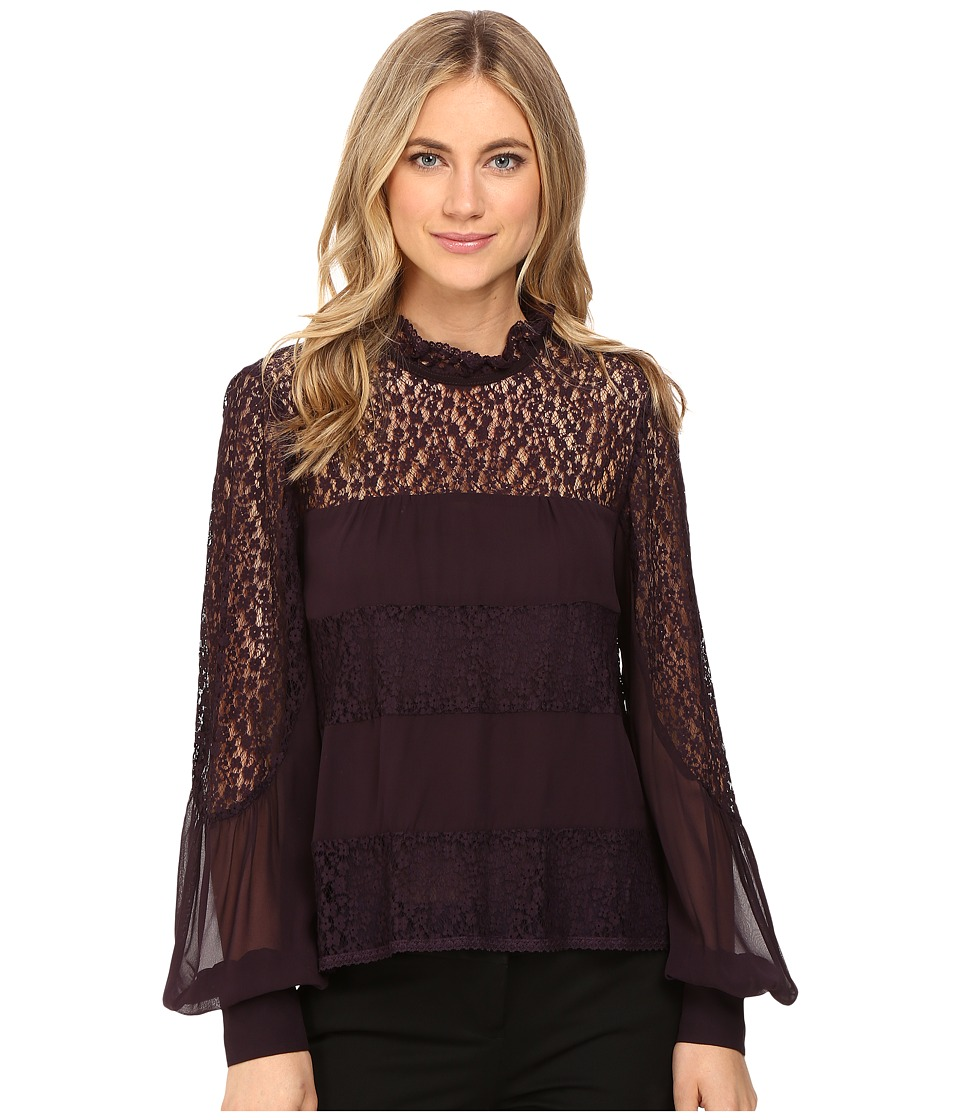 Nanette Lepore - Jezebel Blouse (Wine) Women's Blouse
