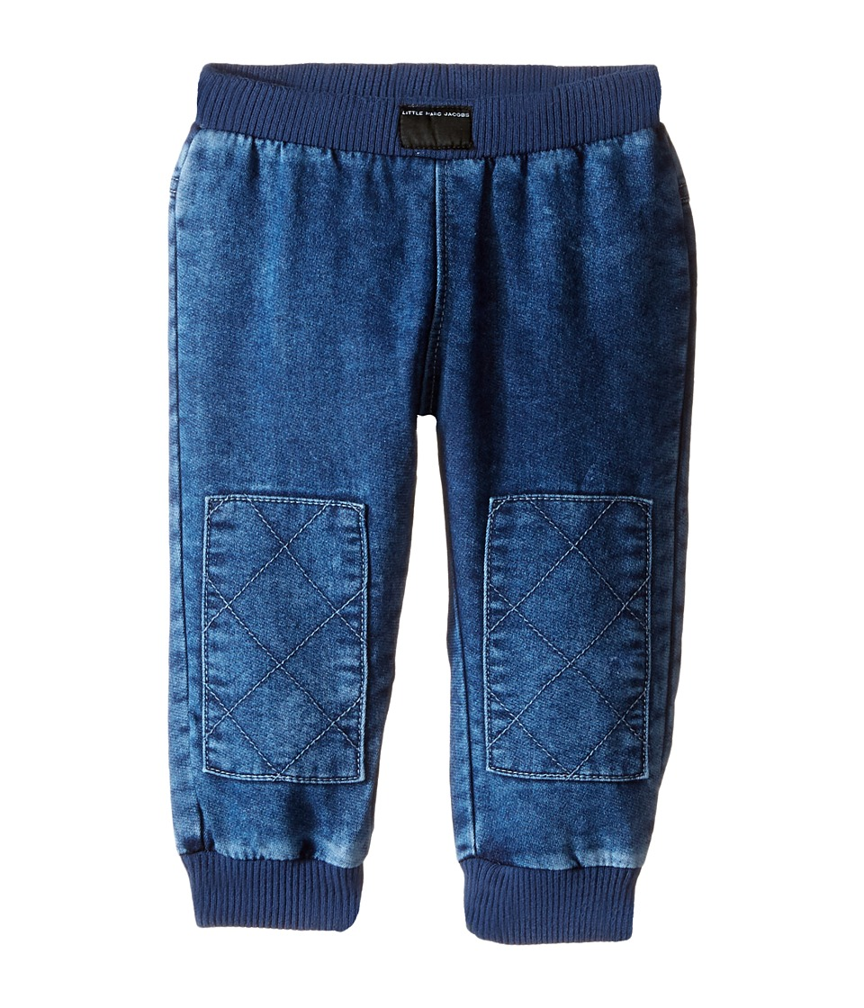 Little Marc Jacobs - Denim Effect Trousers with Knees Patches (Infant) (Denim Blue) Boy's Jeans