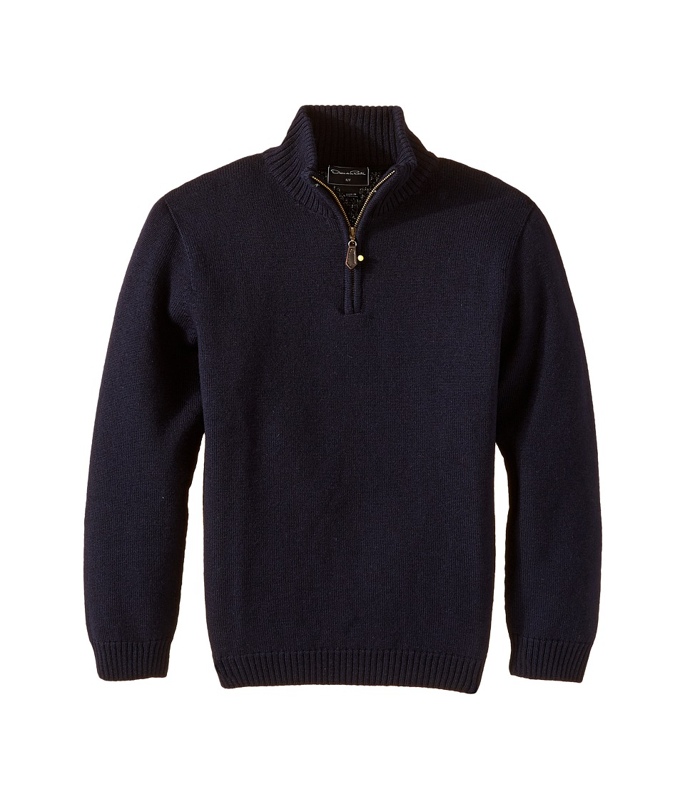 Oscar de la Renta Childrenswear - Merino 1/2 Zip Sweater (Toddler/Little Kids/Big Kids) (Navy) Boy's Sweater