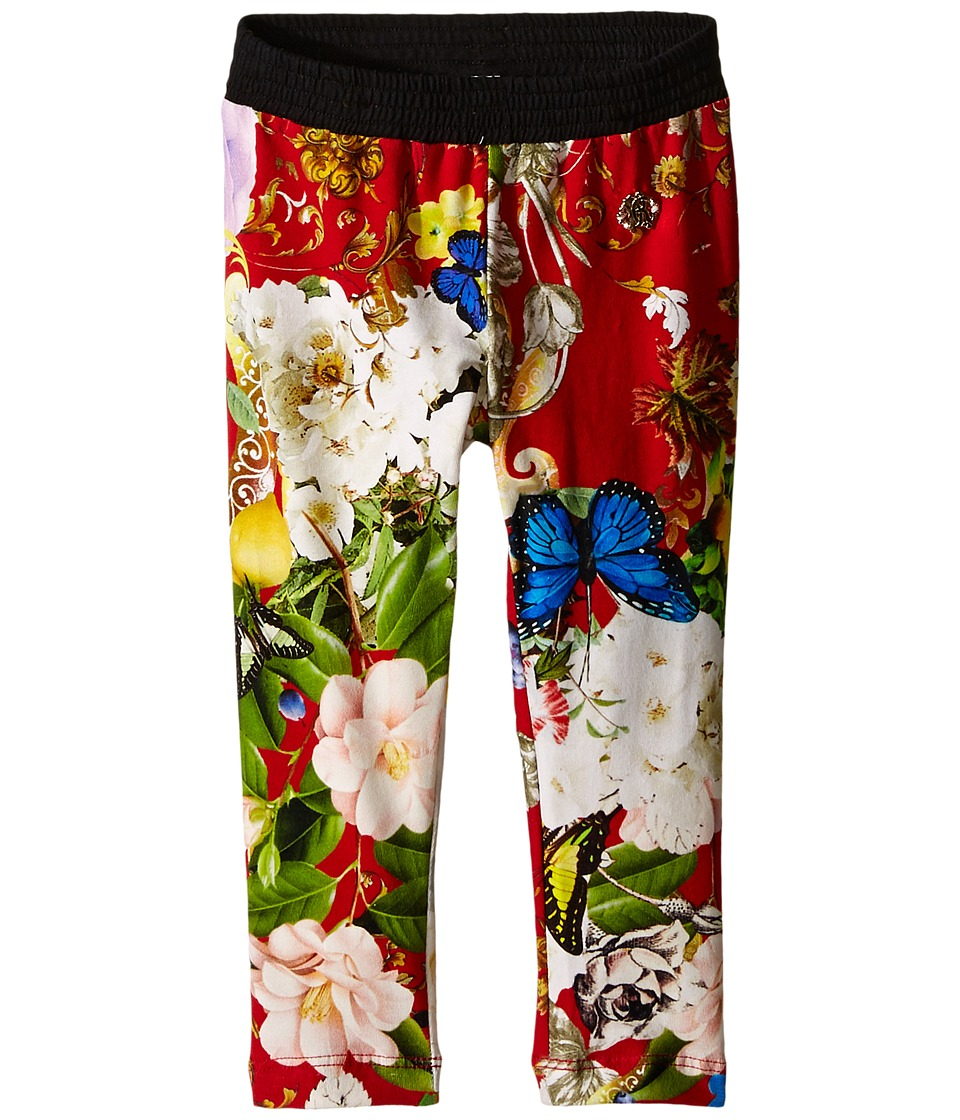 Roberto Cavalli Kids - Floral Print Leggings (Toddler/Little Kids) (Red/Multi) Girl's Casual Pants