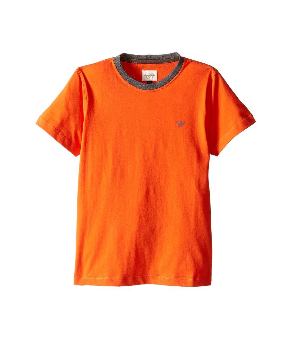 Armani Junior - Basic Tee (Toddler/Little Kids/Big Kids) (Orange) Boy's T Shirt