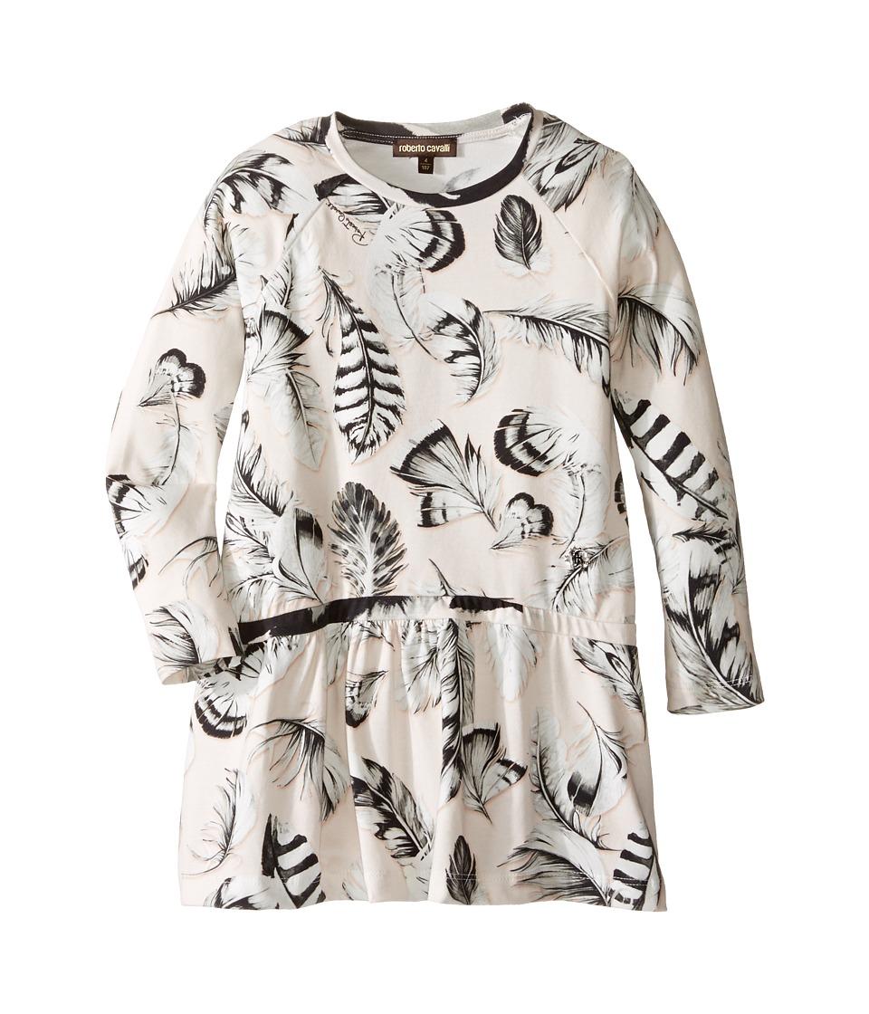 Roberto Cavalli Kids Long Sleeve All Over Print Drop Waist Dress