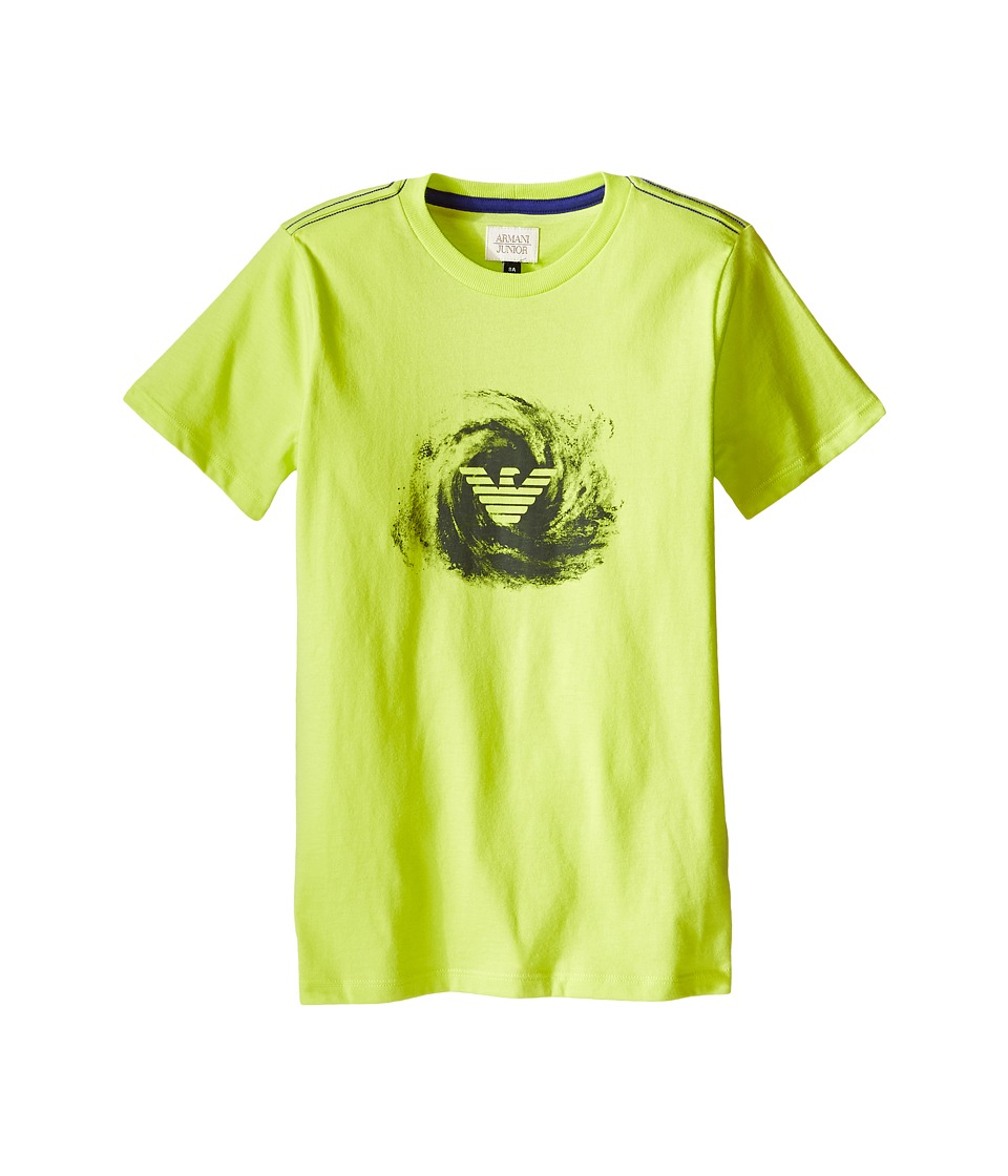 Armani Junior - Galaxy Logo Tee (Toddler/Little Kids/Big Kids) (Lime) Boy's T Shirt
