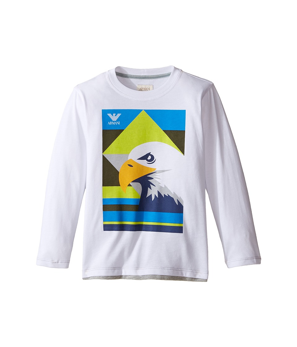 Armani Junior - Eagle Logo Tee (Toddler/Little Kids/Big Kids) (Bianco Ottico) Boy's T Shirt