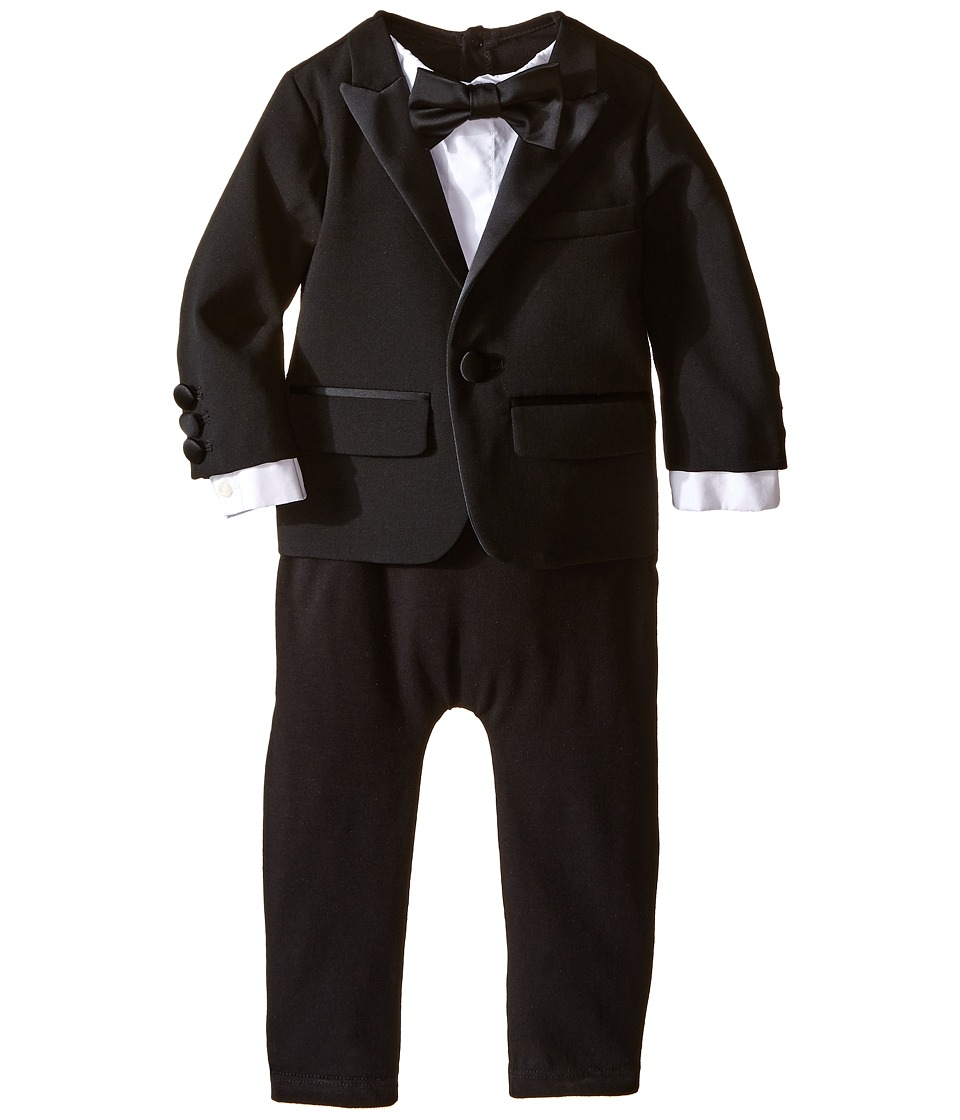Dsquared2 Kids - Two-Piece Tuxedo Romper (Infant) (Black) Boy's Jumpsuit & Rompers One Piece