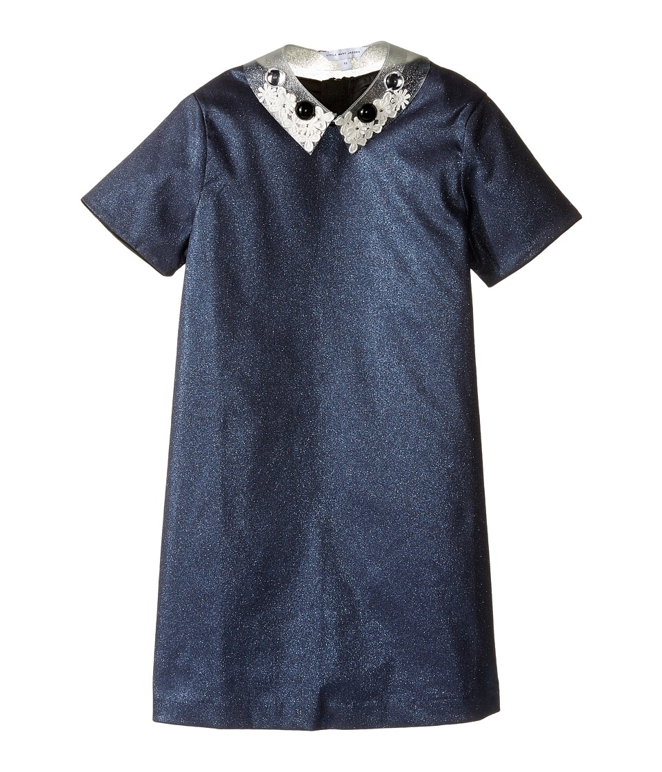 Little Marc Jacobs - Glittered Dress Fancy Cabochons Removable Collar (Little Kids/Big Kids) (Eclipse) Girl's Dress