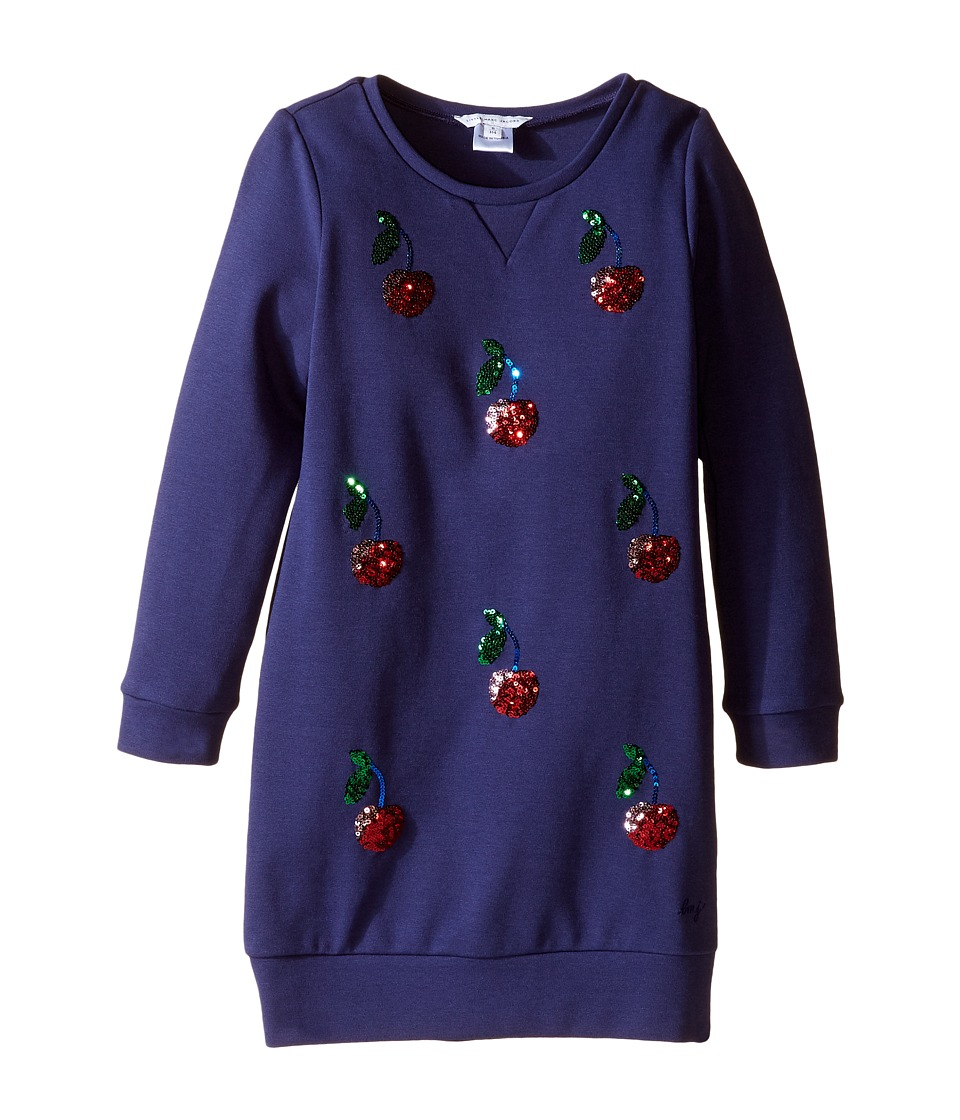 Little Marc Jacobs - Milano Ceremony Dress with Sequined Cherry Patterns (Little Kids/Big Kids) (Eclipse) Girl's Dress