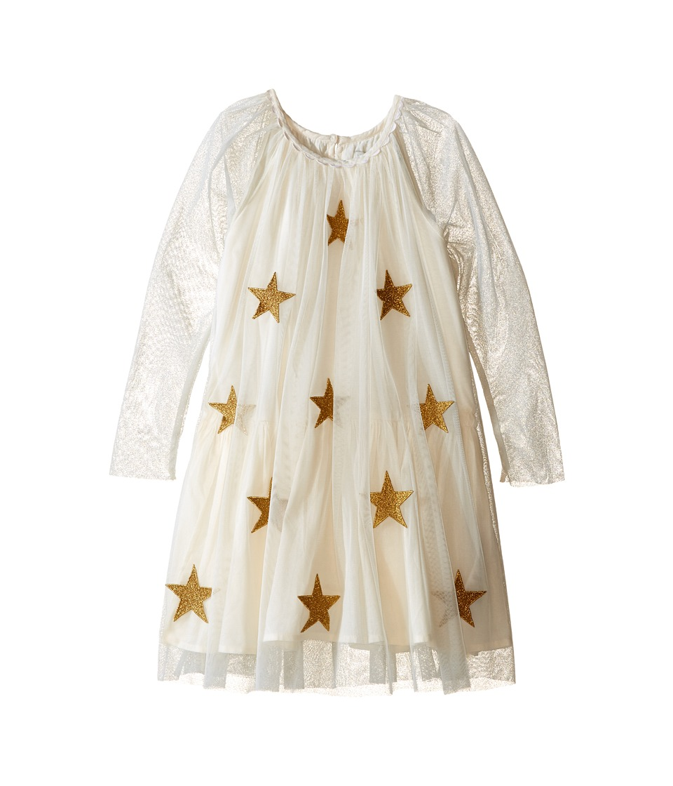 Stella McCartney Kids - Misty Star Patched Tulle Dress (Toddler/Little Kids/Big Kids) (Cream) Girl's Dress