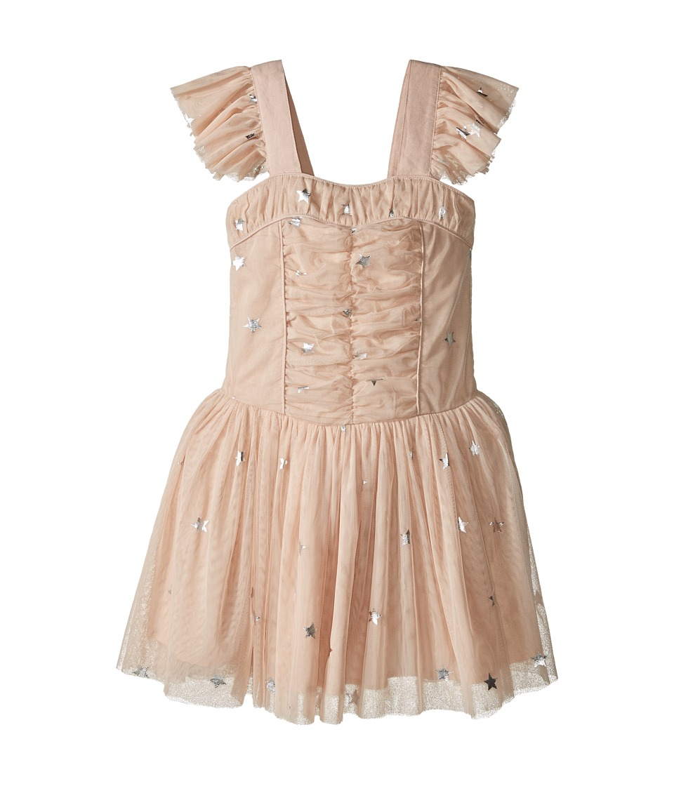 Stella McCartney Kids - Jo Jo All Over Star Print Ruched Tulle Dress (Toddler/Little Kids/Big Kids) (Pink) Girl's Dress