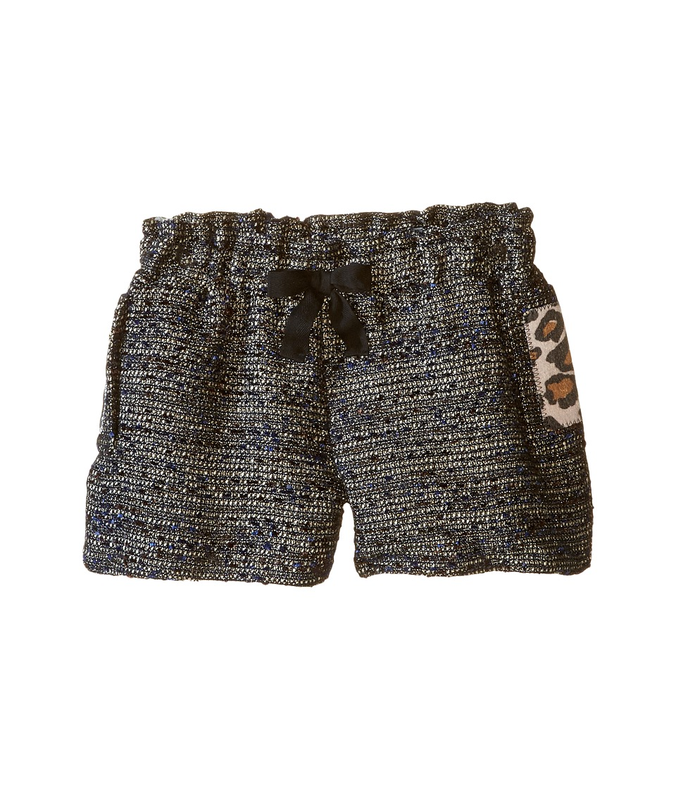 Little Marc Jacobs - Resort - Lurex Shorts Panter Pockets Details (Little Kids/Big Kids) (Black) Girl's Shorts