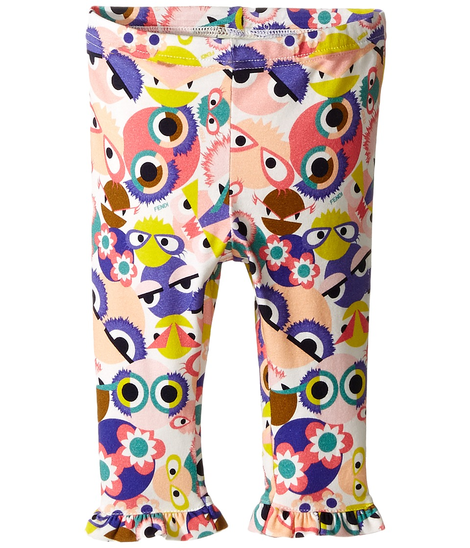 Fendi Kids - All Over Monster Print Leggings (Infant) (Multi) Girl's Casual Pants