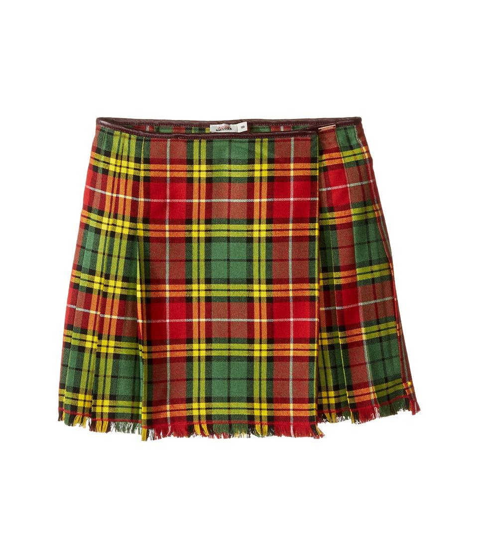 Junior Gaultier - Plaid Yellow Skirt (Big Kids) (Red) Girl's Skirt