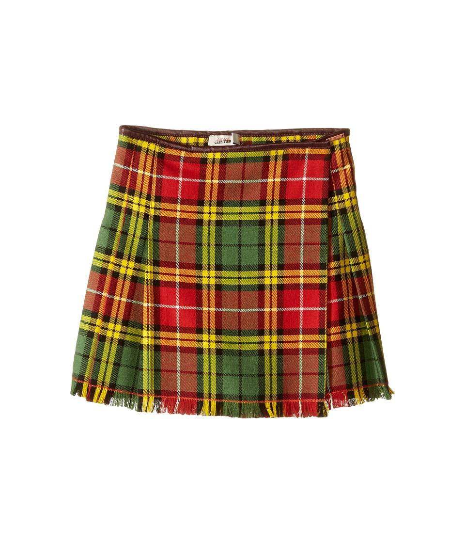Junior Gaultier - Plaid Yellow Skirt (Toddler/Little Kids) (Red) Girl's Skirt