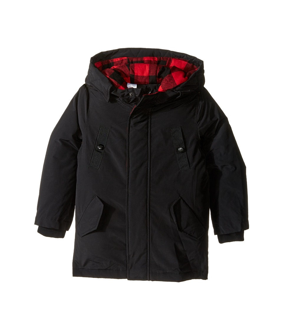 Little Marc Jacobs - Hooded Parka with Removable Sleeves (Toddler/Little Kids) (Black) Boy's Coat