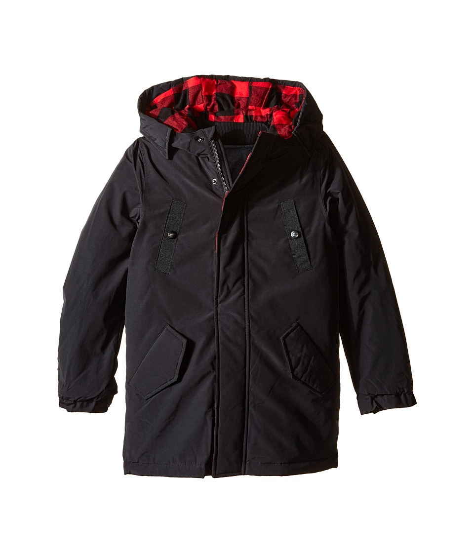 Little Marc Jacobs - Hooded Parka with Removable Sleeves (Little Kids/Big Kids) (Black) Boy's Coat