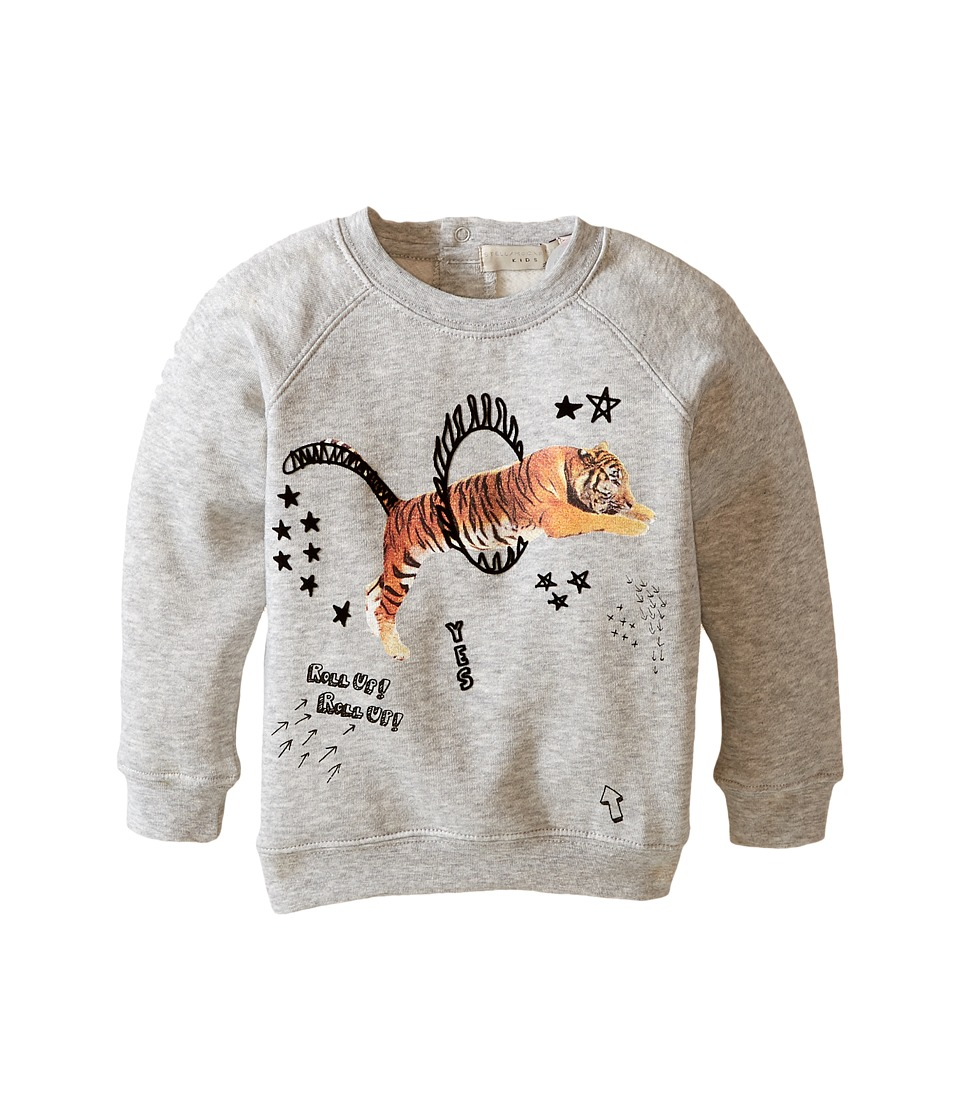 Stella McCartney Kids - Billy Tiger Circus Sweater (Infant) (Grey) Boy's Sweater