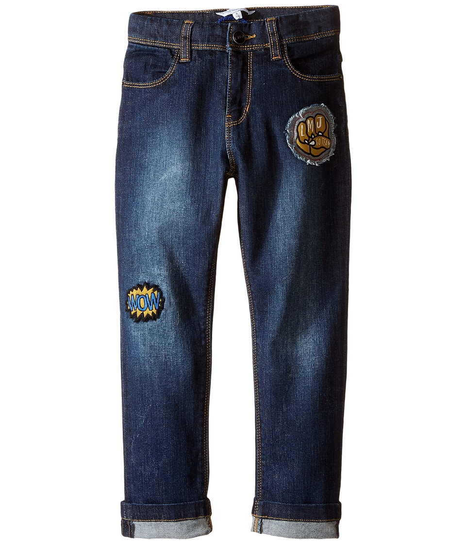 Little Marc Jacobs - Resort - Denim Trousers with Funny Patches (Toddler/Little Kids) (Denim Blue) Boy's Jeans