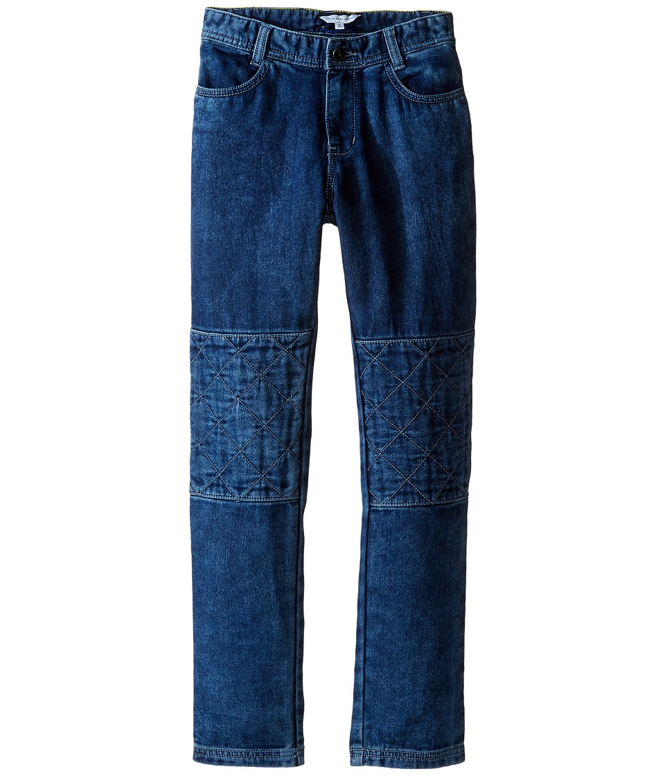Little Marc Jacobs - Denim Effect Trousers with Knees Patches (Little Kids/Big Kids) (Denim Blue) Boy's Jeans