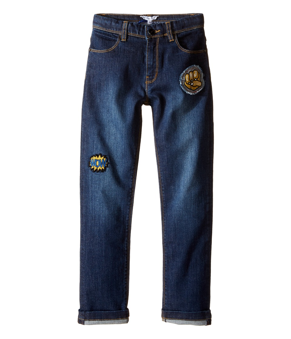 Little Marc Jacobs - Resort - Denim Trousers with Funny Patches (Little Kids/Big Kids) (Denim Blue) Boy's Jeans