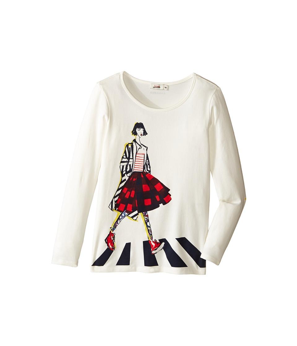 Junior Gaultier - Tee Shirt with Girl (Big Kids) (Cream) Girl's T Shirt