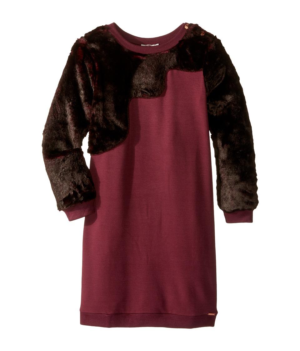 Junior Gaultier - Faux Fur Dress (Big Kids) (Prune) Girl's Dress
