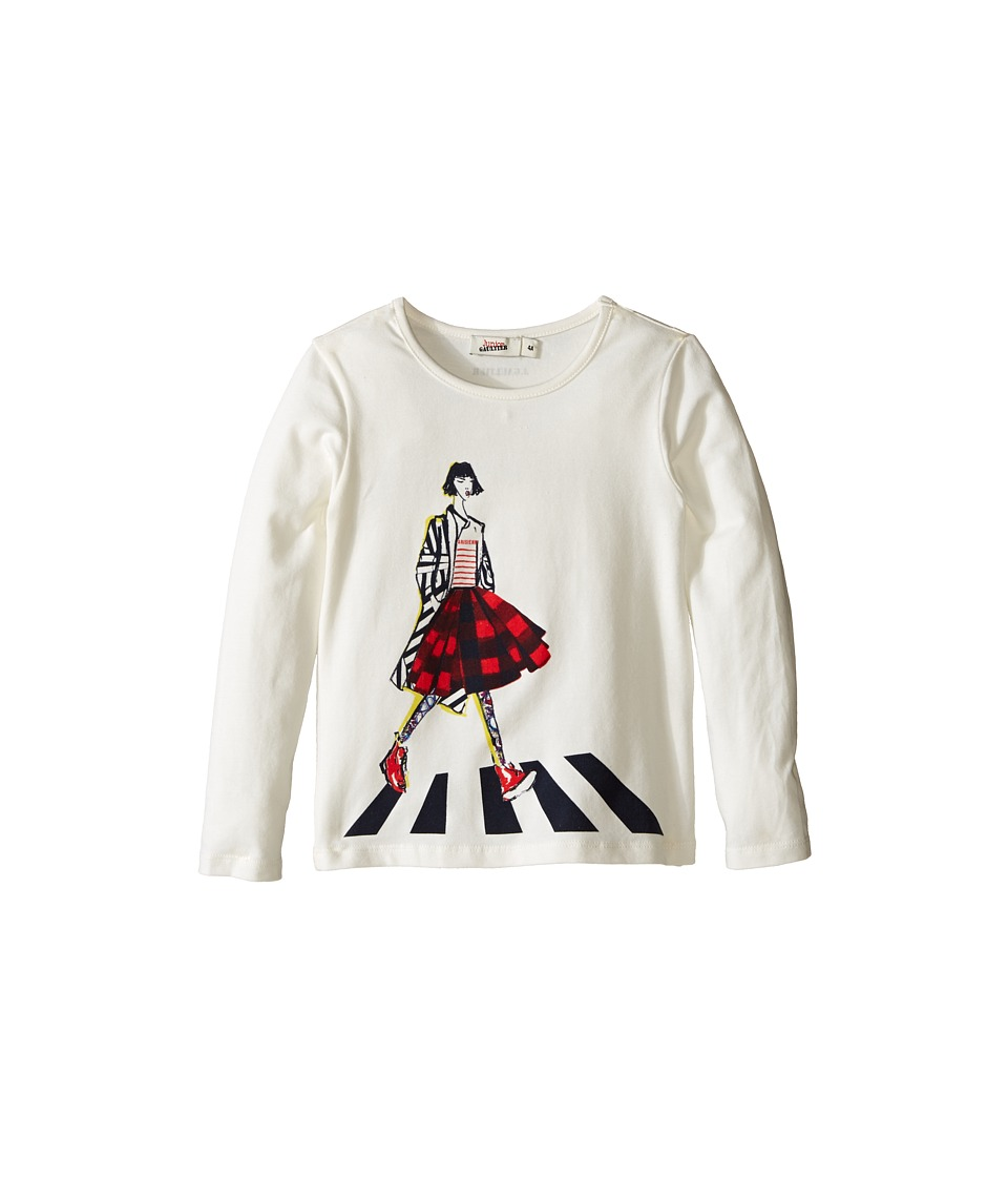 Junior Gaultier - Tee Shirt with Girl (Toddler/Little Kids) (Cream) Girl's T Shirt