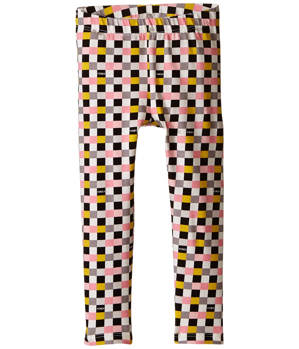 Fendi Kids - Checker Print Leggings (Toddler) (Multi) Girl's Casual Pants