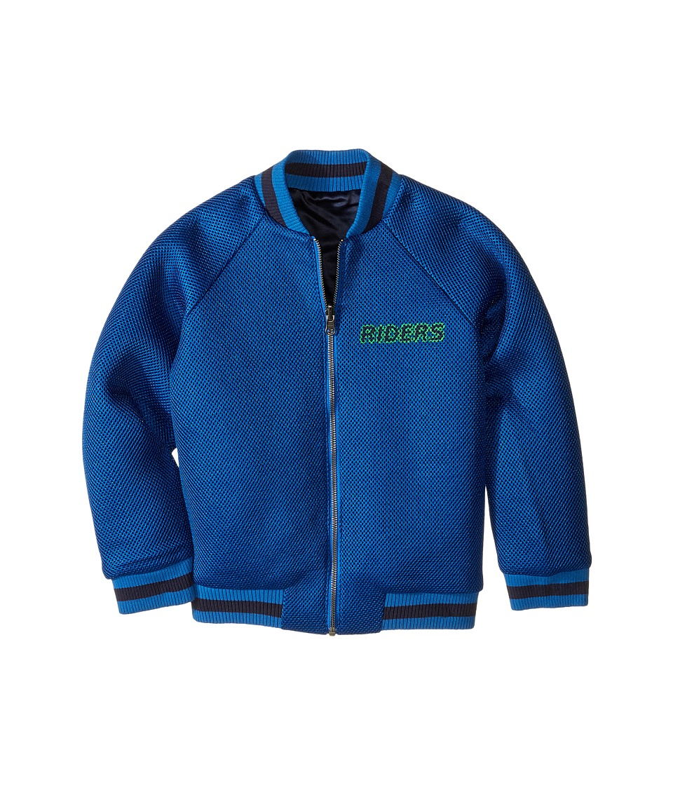 Stella McCartney Kids - Willow Reversible Bomber Jacket (Toddler/Little Kids/Big Kids) (Blue) Boy's Coat