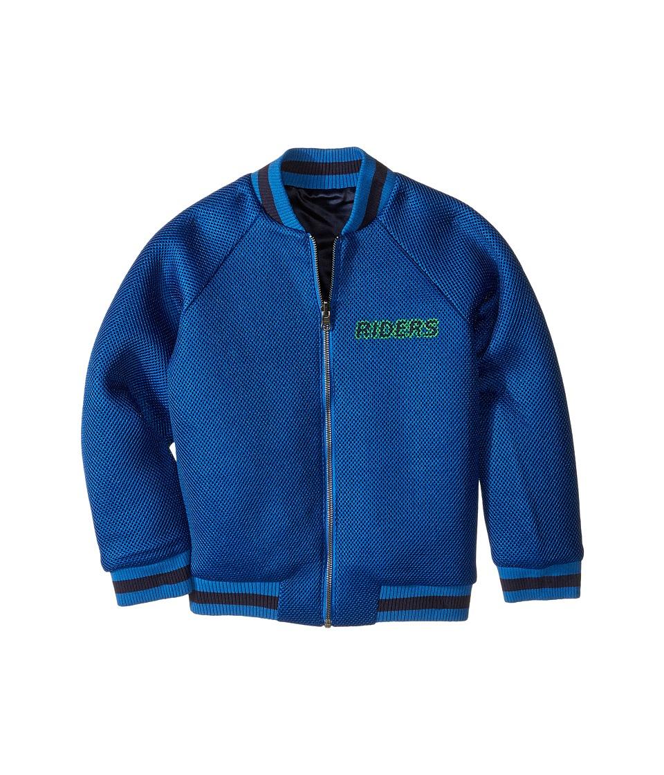 Stella McCartney Kids - Willow Reversible Bomber Jacket (Toddler/Little Kids/Big Kids) (Blue) Boy's Coat
