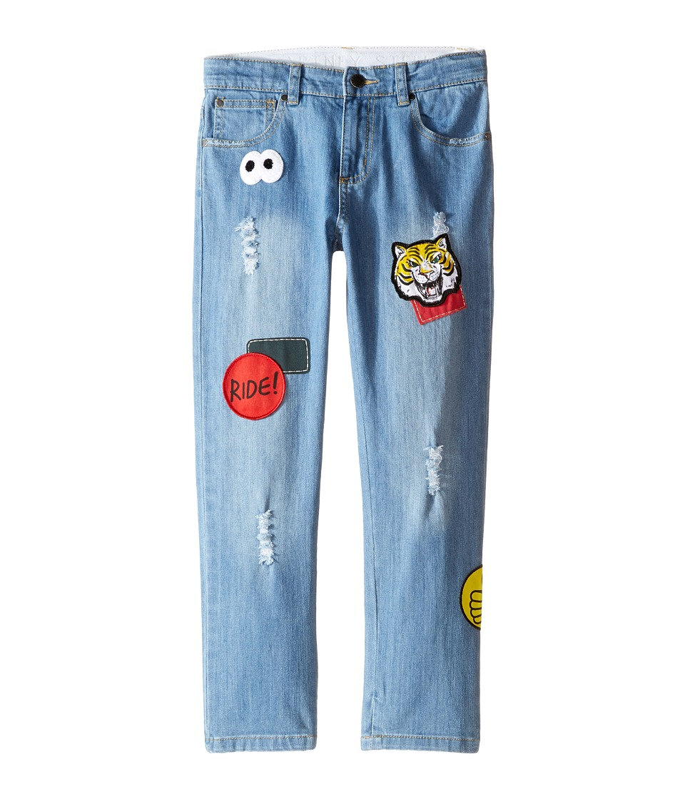 Stella McCartney Kids - Lohan Skinny Denim Jeans with Patches (Toddler/Little Kids/Big Kids) (Pale Denim) Boy's Jeans