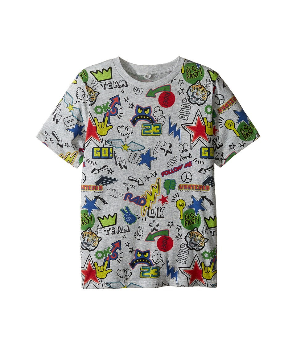 Stella McCartney Kids - Arrow Short Sleeve All Over Graphic Tee (Toddler/Little Kids/Big Kids) (Grey) Boy's T Shirt