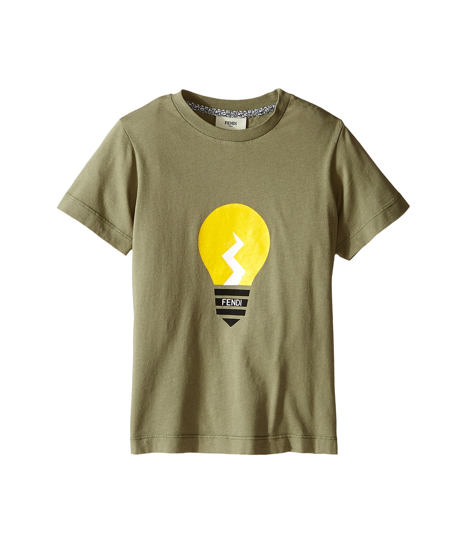 Fendi Kids - Short Sleeve Graphic T-Shirt (Little Kids) (Light Green) Boy's T Shirt