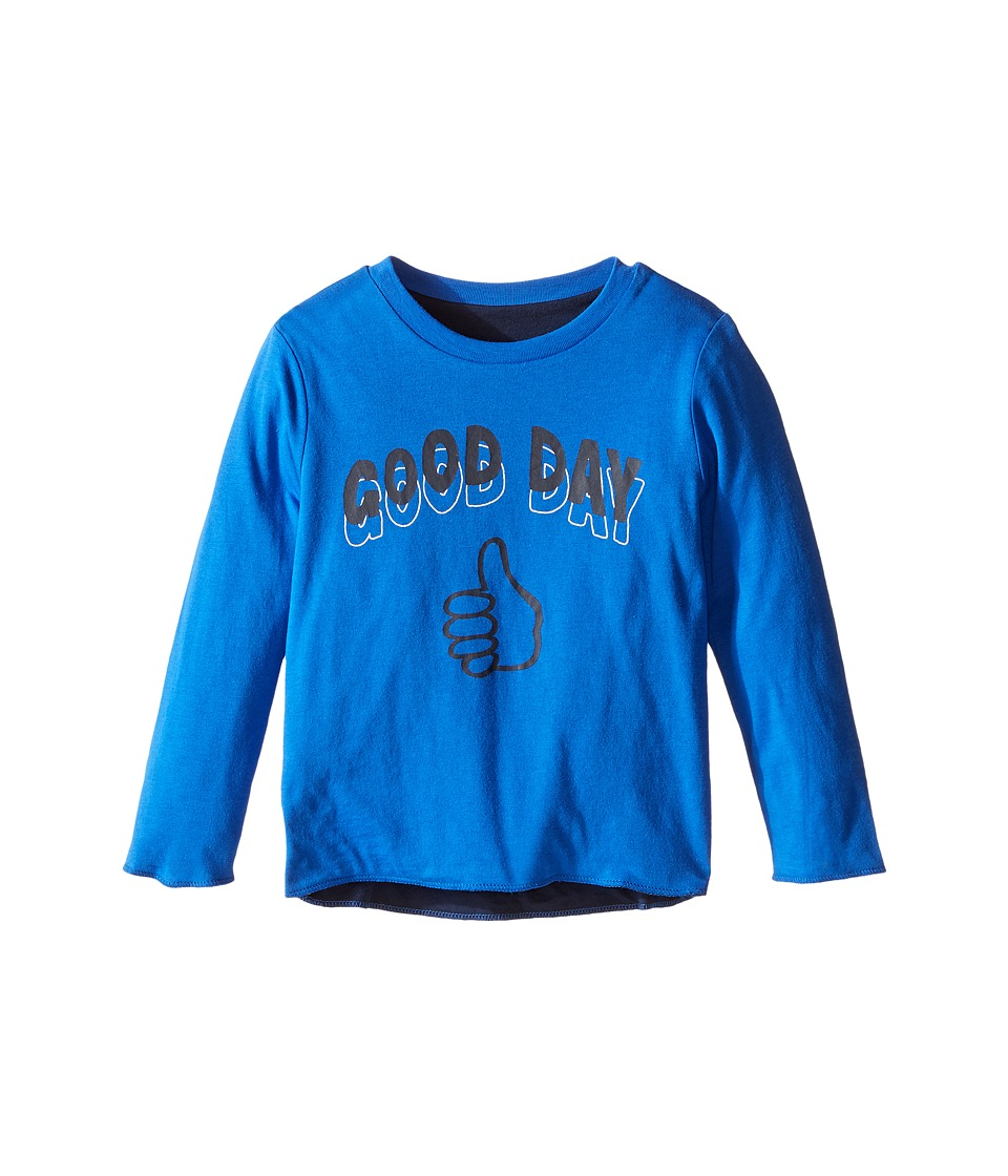 Stella McCartney Kids - Coby Reversible Good Day/Bad Day T-Shirt (Toddler/Little Kids/Big Kids) (Blue) Boy's T Shirt